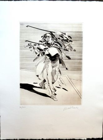 Etching Weisbuch - Le Violoniste