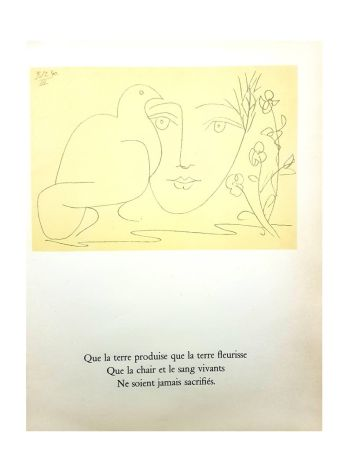 Lithograph Picasso (After) - Le Visage de la Paix