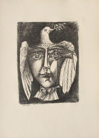 Lithograph Picasso - Le Visage de la Paix (B. 687)