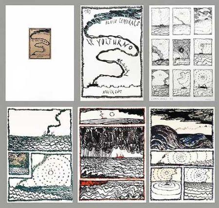 Lithograph Alechinsky - Le Volturno