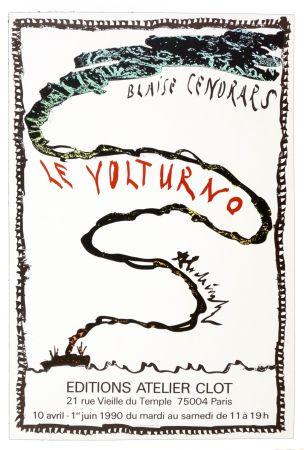 Poster Alechinsky - Le Volturno, Blaise Cendrars, Pierre Alechinsky, 1990