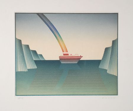 Etching And Aquatint Folon - Le Voyage