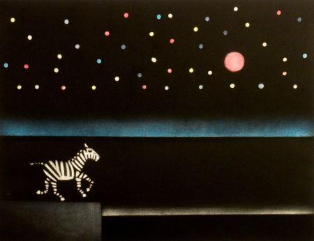 Mezzotint Avati - Le zebre a Antibes