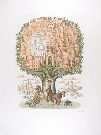 Etching Peynet - Le Zodiaque de Peynet - LE SAGITTAIRE