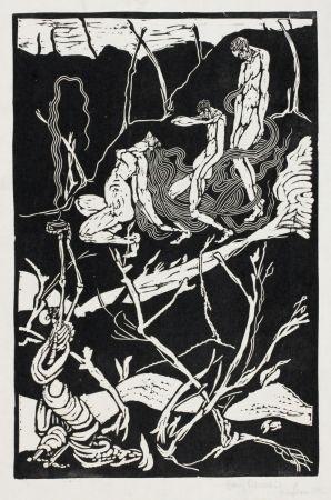 Linocut Ehmsen - Leben und Tod (Life and Death)