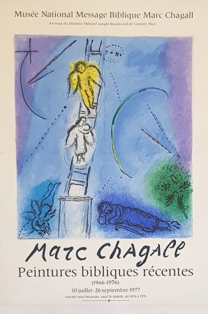 Lithograph Chagall (After) - L'Echele de Jacob