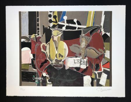 Lithograph Braque - L'echo
