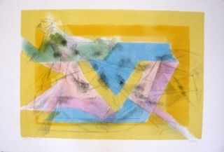 Lithograph Villon - L'ecuyere