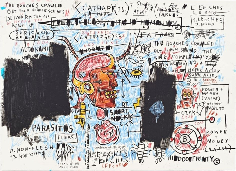 Screenprint Basquiat - Leeches