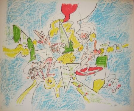 Lithograph Matta - L'effet Gabriel