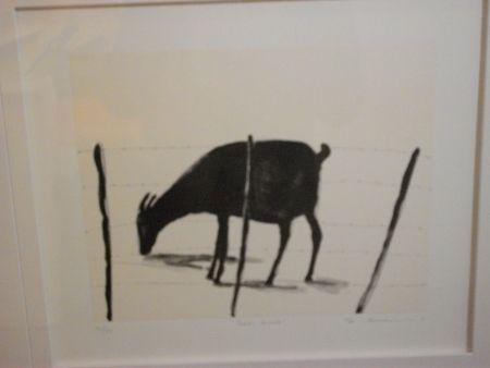 Lithograph Nhlengethwa - Left Alone