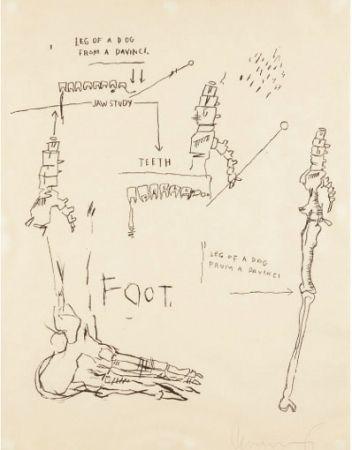 Screenprint Basquiat - Leg of a Dog
