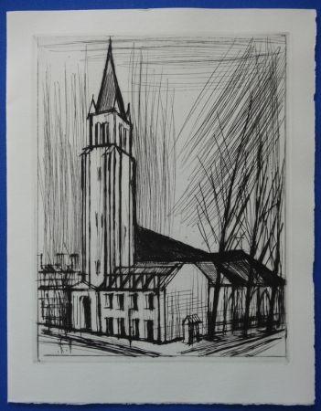 Drypoint Buffet - L'Eglise de St Germain des Prés