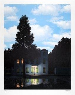 Lithograph Magritte - L'empire des lumières 1954