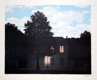 Lithograph Magritte - L'empire des lumières 1961