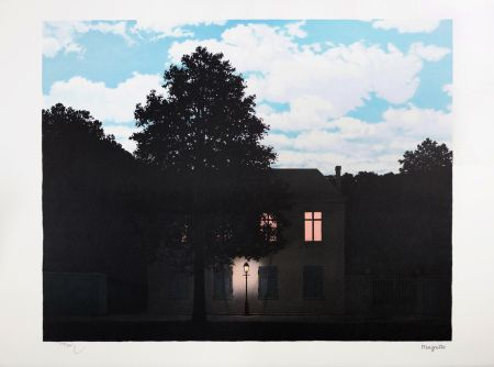 Lithograph Magritte - L'Empire des Lumières (The Empire of Light)