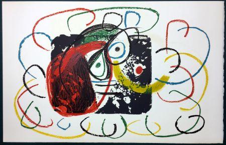 Lithograph Miró - L'Enfance d' Ubu. La 21ème et dernière lithographie du cycle d'Ubu par Miro. 1975