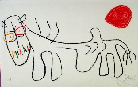 Lithograph Miró - L'enfance du Ubu