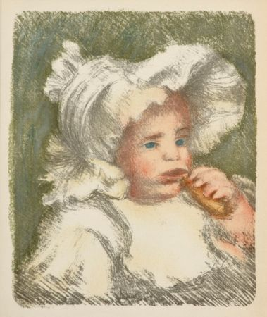 Lithograph Renoir - L'Enfant au Biscuit