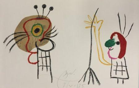 Lithograph Miró - L'Enfant d' Ubu