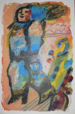 Lithograph Tobiasse - L'enfant et les violons
