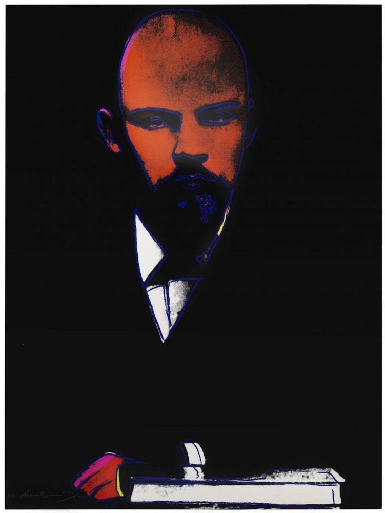 Screenprint Warhol -  Lenin (Black) (FS II.402)