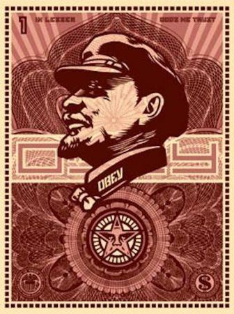 Screenprint Fairey - Lenin Money