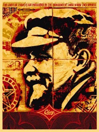 Screenprint Fairey - Lenin Record