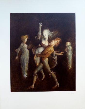Lithograph Fini - L'Enlèvement