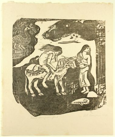 Woodcut Gauguin - L'Enlèvement d'Europe