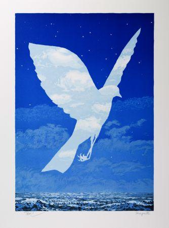 Lithograph Magritte - L'Entrée en scène (The Emergence)