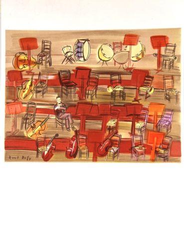 Lithograph Dufy - L'Entracte
