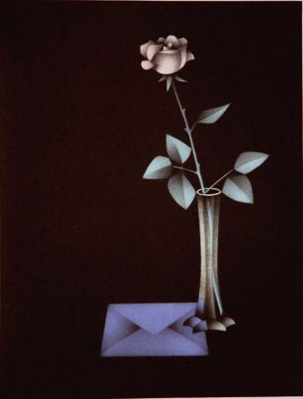 Mezzotint Avati - L'enveloppe bleue