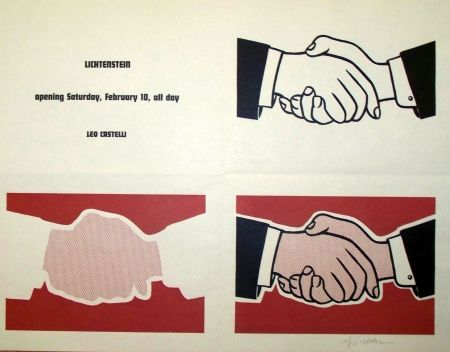 Screenprint Lichtenstein - Leo castelli exposition