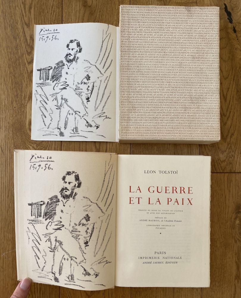 Lithograph Picasso - Leon Tolstoi