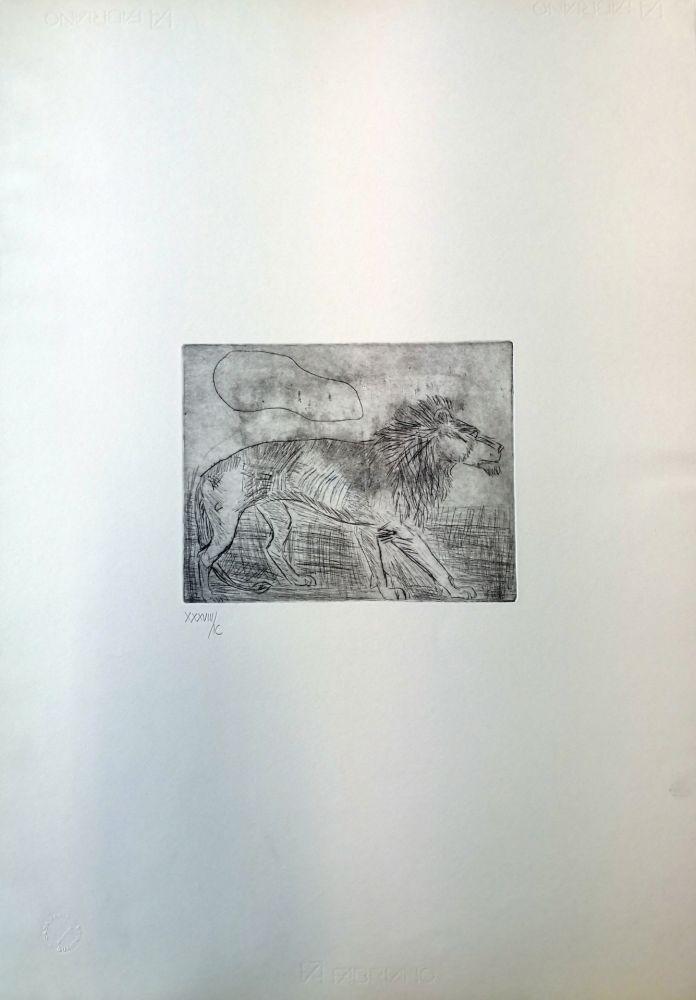 Drypoint Ligabue - Leone