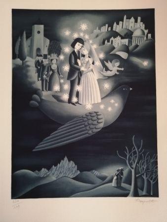 Lithograph Peynet - Les étoiles