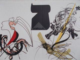 Lithograph Moretti - Les 10 plaies de l' egypte les sauterelles