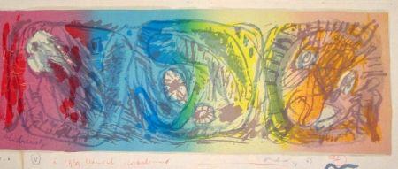Lithograph Alechinsky - Les 3 têtes