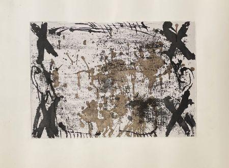 Etching Tàpies - Les 4 croix