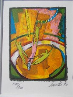 Lithograph Wolf - Les acrobates
