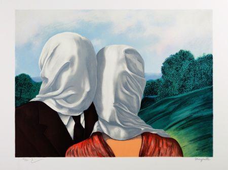 Lithograph Magritte - Les Amants