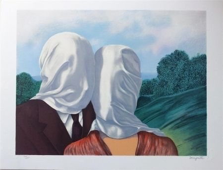 Lithograph Magritte - Les amants (The Lovers)