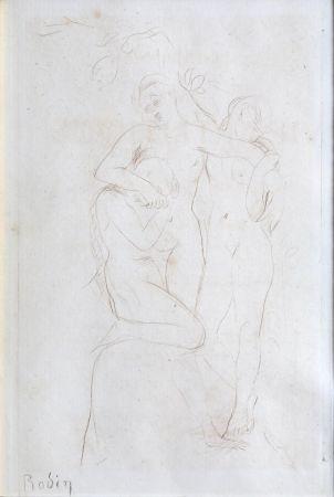 Drypoint Rodin - Les Ames du Purgatoire