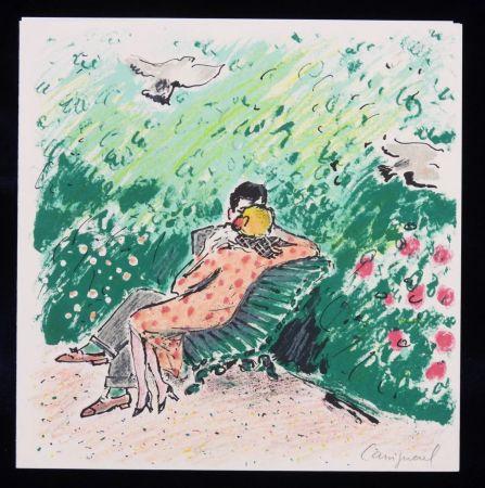 Lithograph Cassigneul  - Les amoureux sur un banc