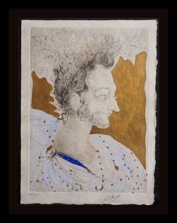 Etching Dali - Les Amours de Cassanre Portrait de Ronsard