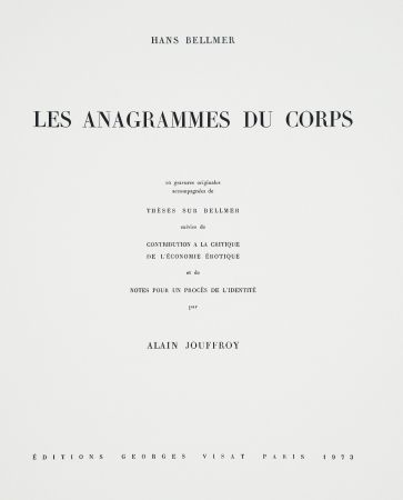 Illustrated Book Bellmer - Les Anagrammes du corps