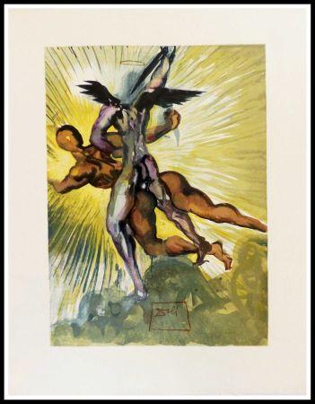 Woodcut Dali - Les anges gardiens de la vallée