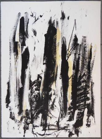Lithograph Mitchell - Les arbres en jaune