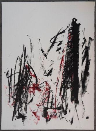 Lithograph Mitchell - Les arbres en rouge